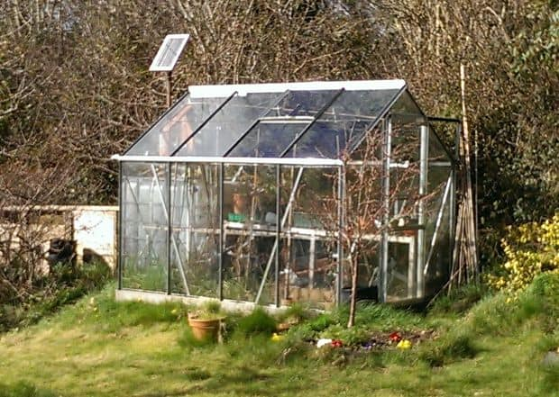THE GREENHOUSE WITH AN AUTOMATIC SOLAR POWERED WATERING SYSTEM