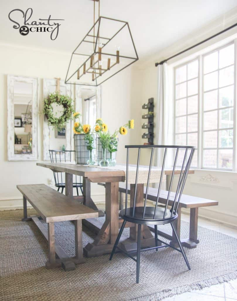 POTTERY BARN INSPIRED FARMHOUSE TABLE