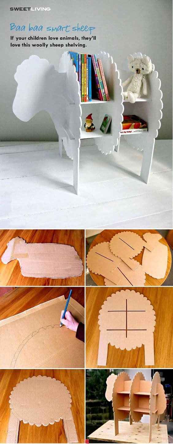 16 Clever DIY Ways To Use Cardboard In Your Home Decor