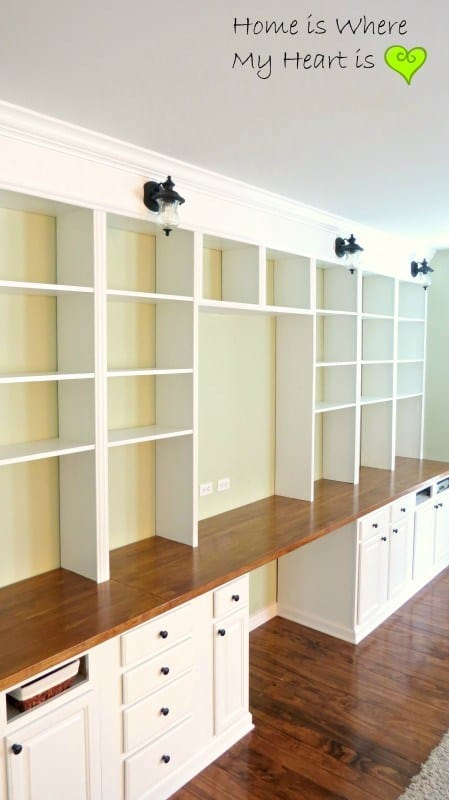 WALL TO WALL BOOK CASE AND DESK
