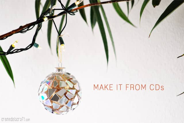 43. Incredibly Cool DIY Mosaic Ornaments Made from CDs