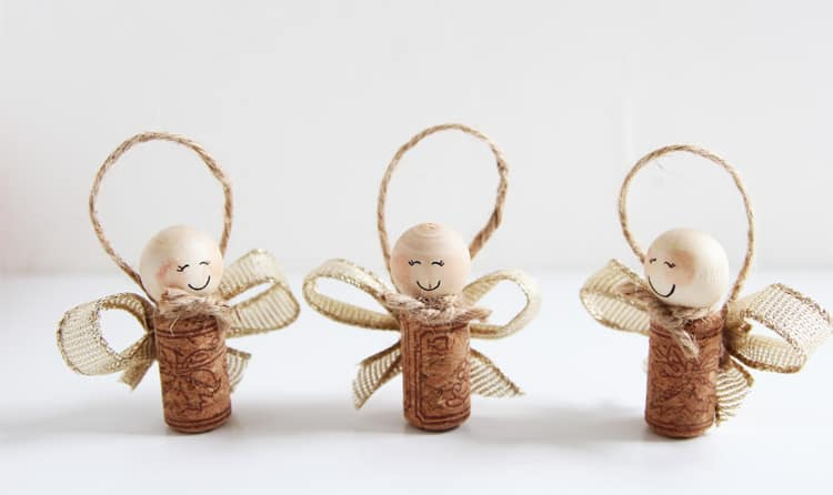 45. Learn How to Create These Incredibly Sweet Wine Cork Angels