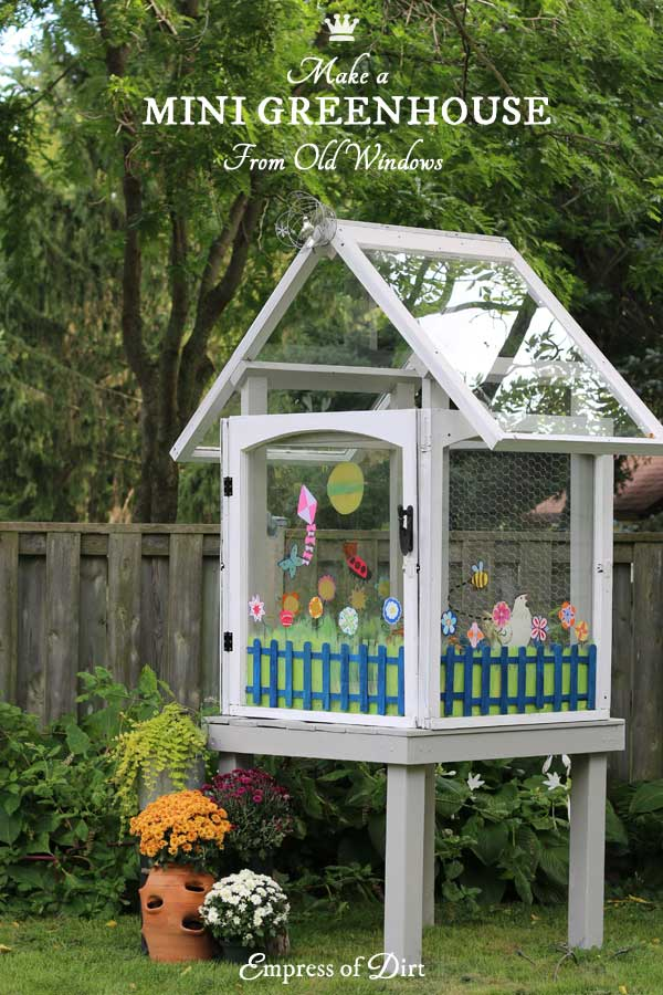 SIMPLE BUT LOVELY DIY GREENHOUSE MADE FROM REPURPOSED WINDOWS