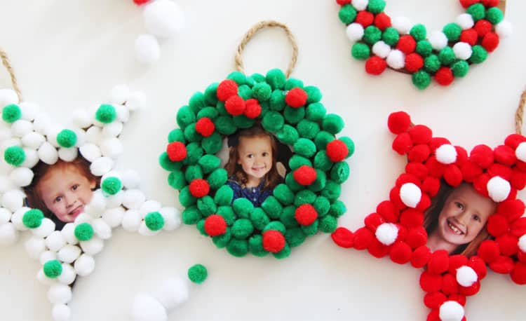 47. Decorate Your Christmas Tree with These Amazing Pom-Pom Christmas Photo Ornaments