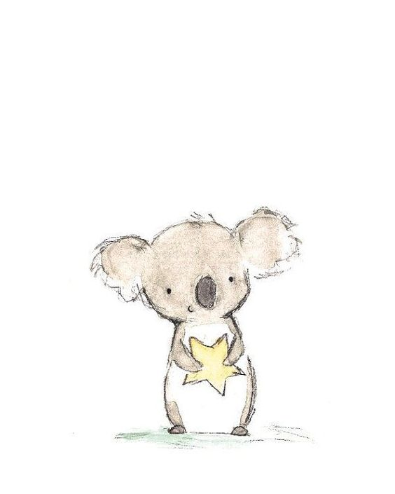 94. DRAW AN ADORABLE KOALA BEAR