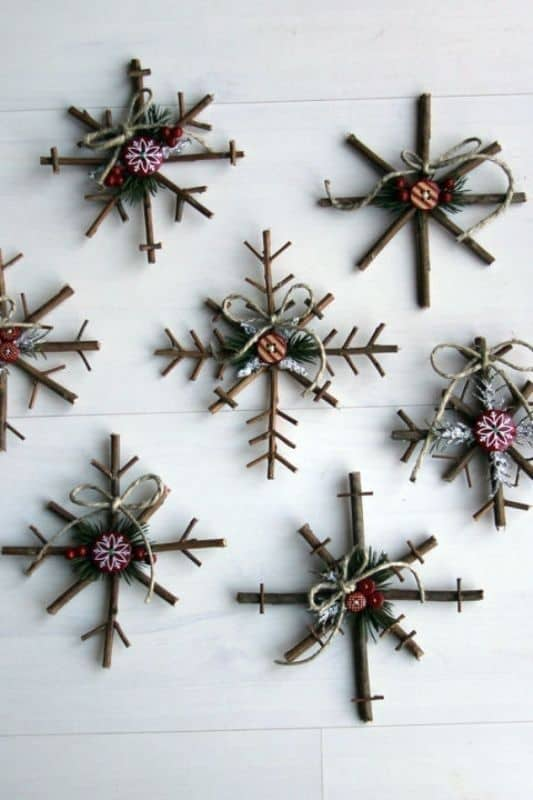 5. Decorate Your Walls with Rustic Snowflakes This Christmas