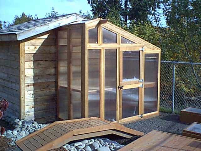 BUILD A GREENHOUSE EXTENSION