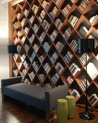 THE DIAGONAL BOOKCASE