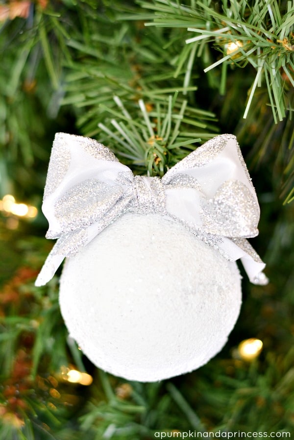 56. Adorn Your Christmas Tree with Handmade Snowball Ornaments