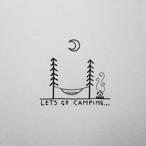 79. DEPICT THE EXPERIENCE OF CAMPING