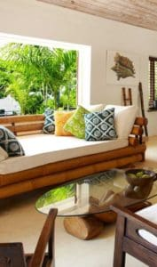 bamboo sofa in GOLDENEYE RESORT