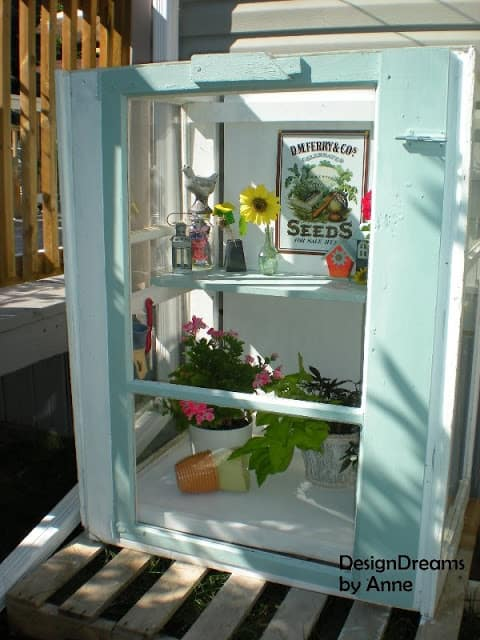 LEARN HOW TO BUILD A MINI GREENHOUSE USING UPCYCLED STORM WINDOWS