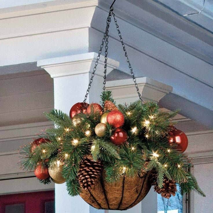 60 of the best christmas decorating ideas cheer homemade with christmas hanging baskets