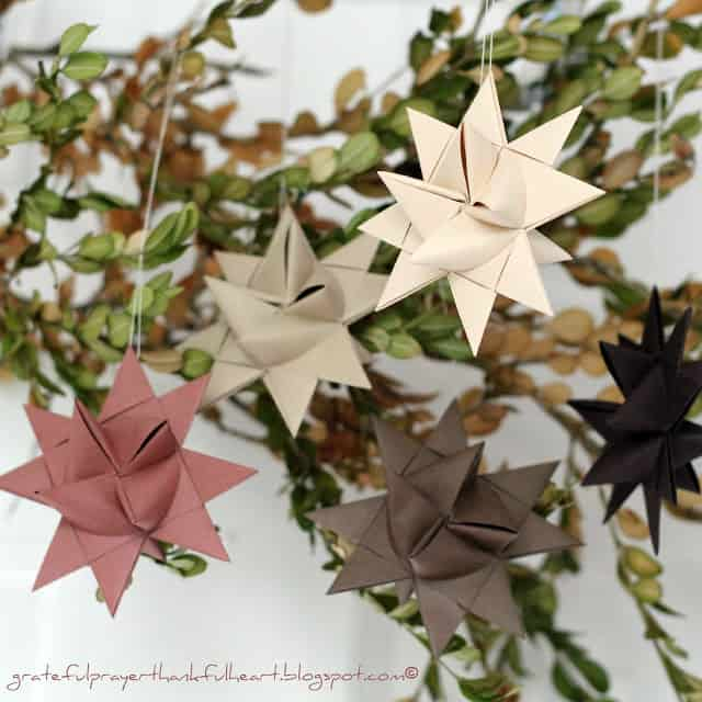 69. Make These Amazing German Paper Stars for Your Christmas Tree