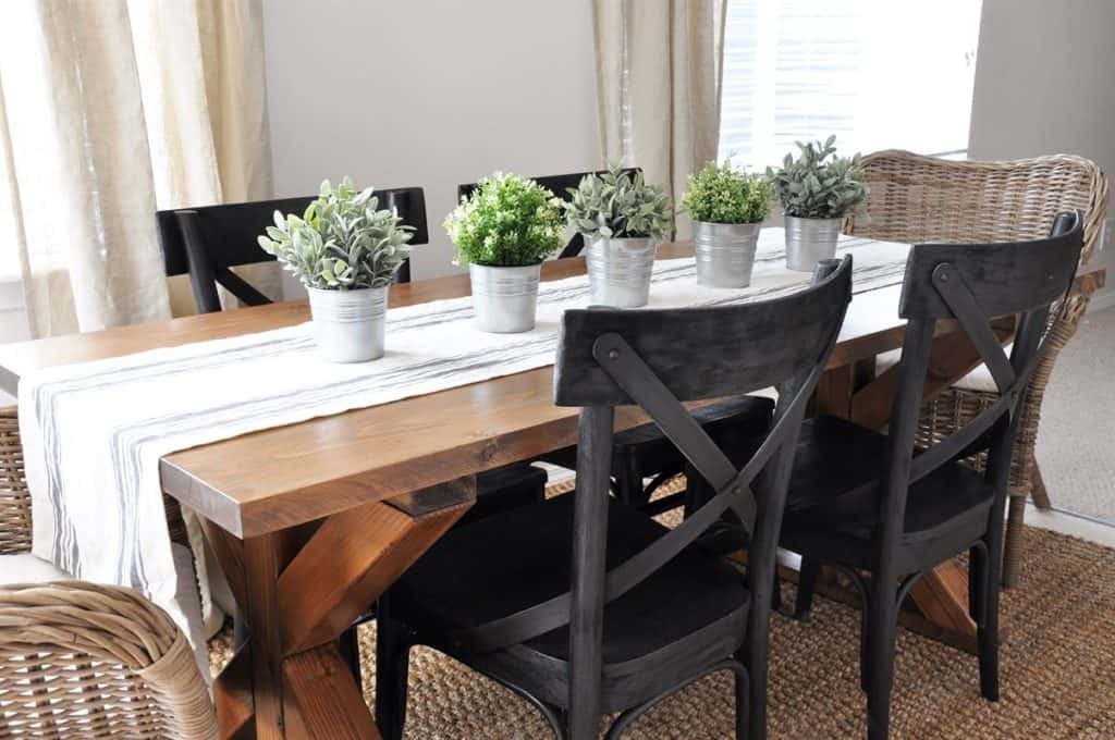 THE RUSTIC X BASE FARMHOUSE TABLE