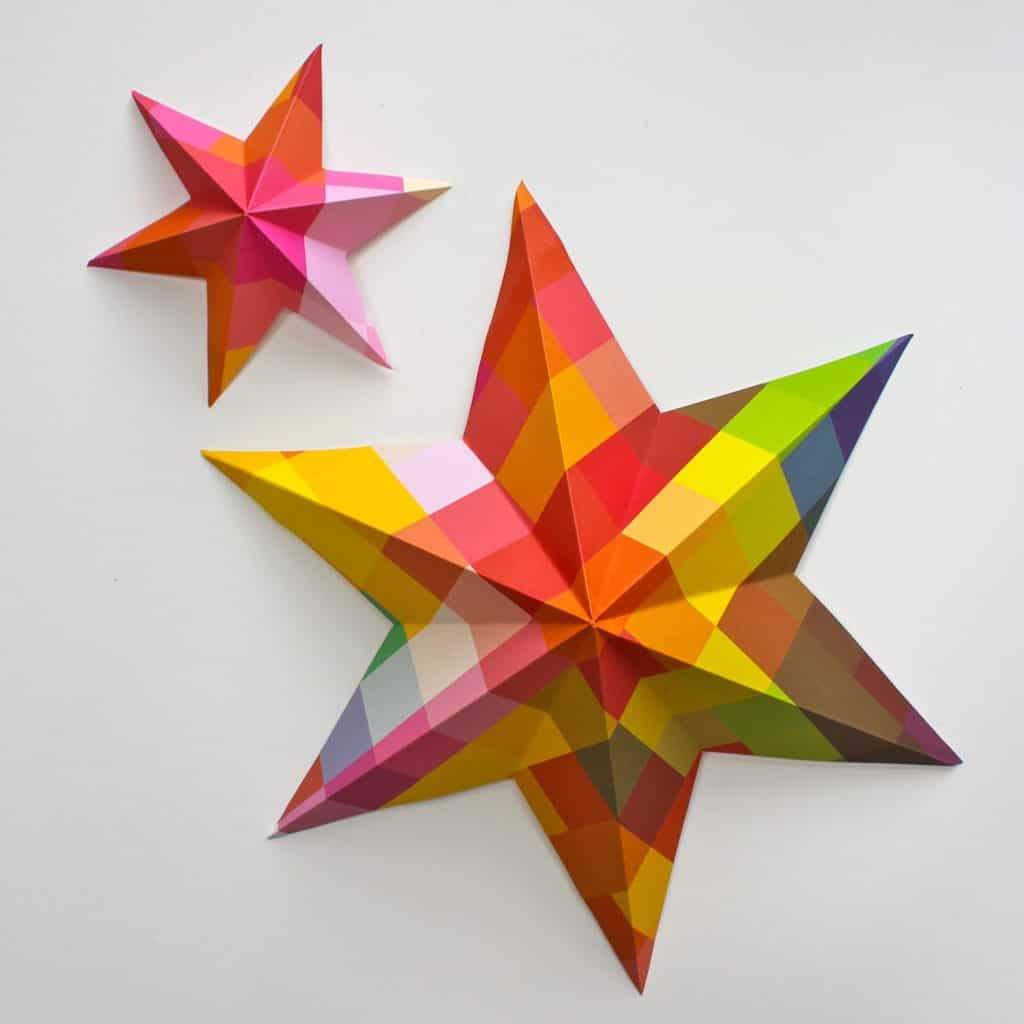 73. Learn How to Create These Incredibly Cool Origami Star Ornaments