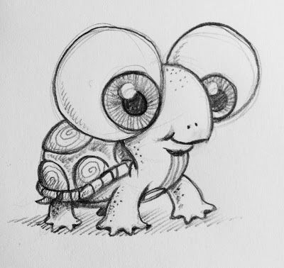 17. DRAW AN ADORABLE TURTLE
