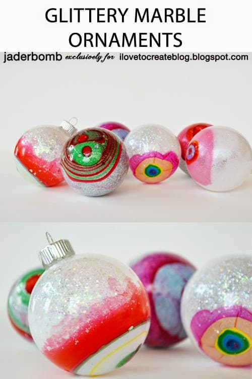 77. Learn How to Create These Amazing Glittery Marble Ornaments