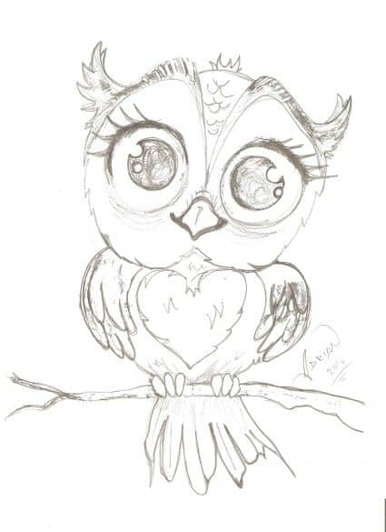 93. DRAW A CHIC OWL