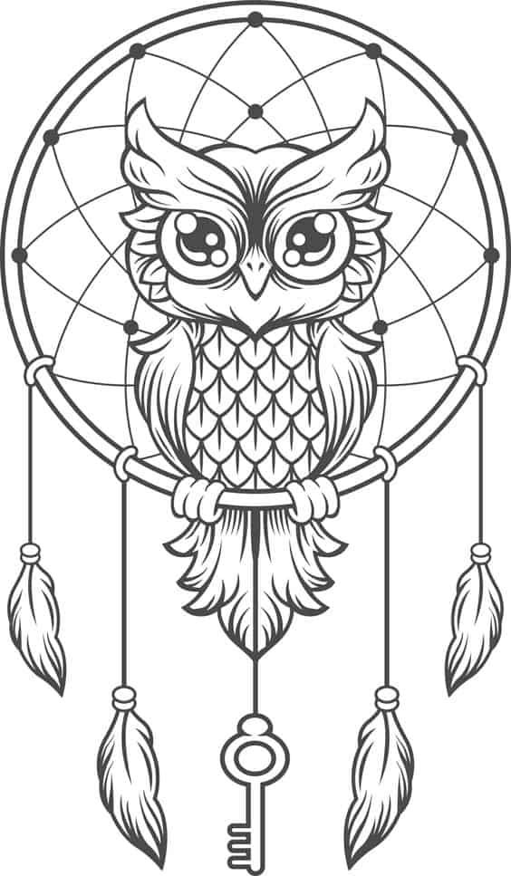 22. ONE SPLENDID OWL DREAM-CATCHER