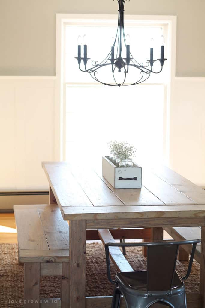THE DOUBLE BENCH FARMHOUSE TABLE