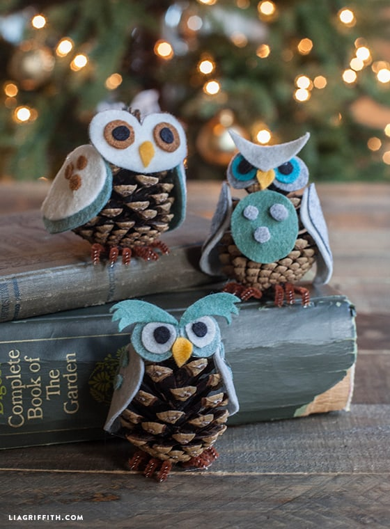 pinecone Art at Its Finest – The Amazing Pinecone Owl Ornaments