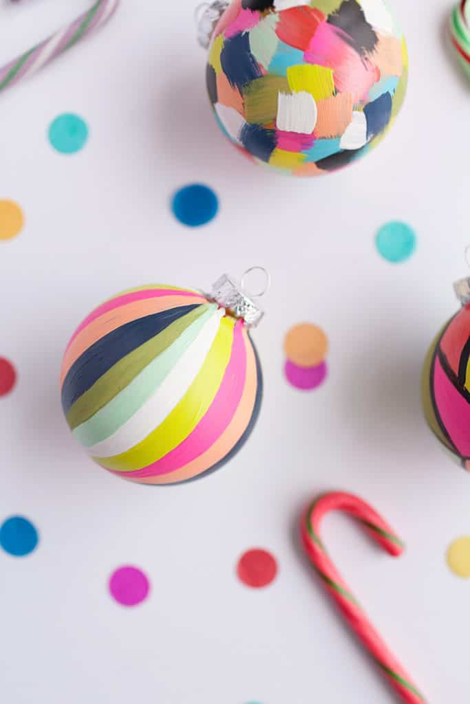 81. Learn How to Make Amazing Painted Christmas Ornaments