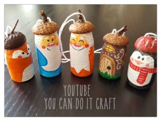 88. Adorn Your Christmas Tree With These Incredibly Cute Painted Wine Cork Ornaments