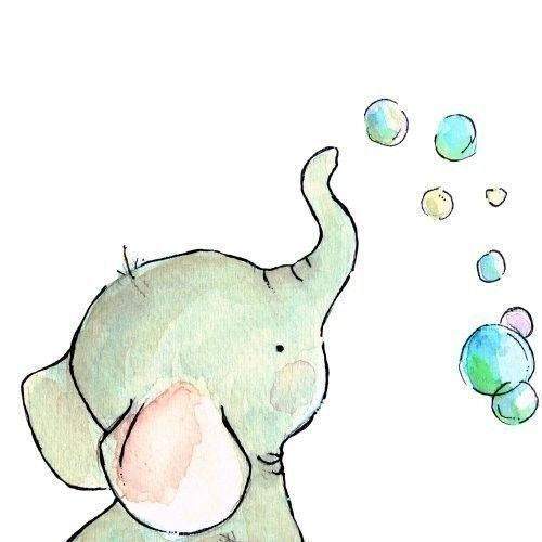 85. A BABY ELEPHANT FINDS JOY IN SOAP BUBBLES
