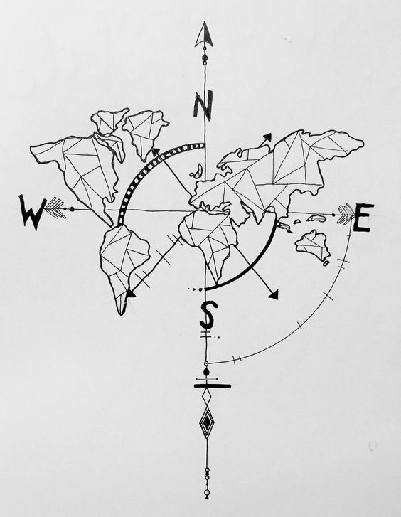 78. DRAW AN EPIC GEOMETRIC WORLD MAP