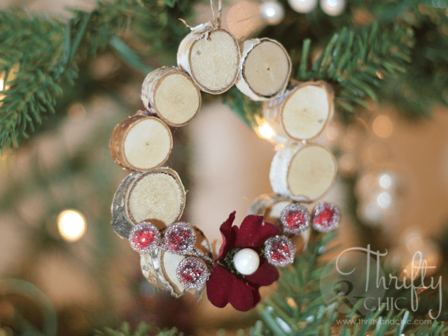 9. Replace Your Boring Christmas Wreaths with These Amazing Mini Woodland Wreath Ornaments