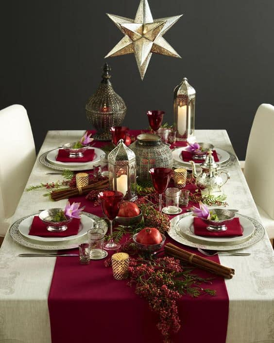 Source & 20 Wonderful Christmas Dinner Table Settings For Merry Holidays ...