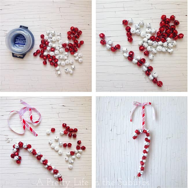 91. Learn How to Make This Amazing Candy Cane Jingle Bell Ornament