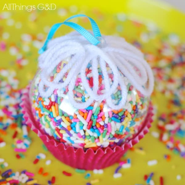 92. The amazing cupcake sprinkles Christmas ornament