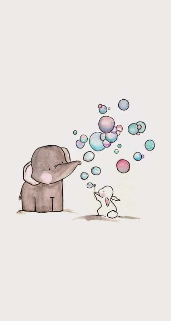 11. SOAP BUBBLES, ONE RABBIT AND HIS ELEPHANT FRIEND