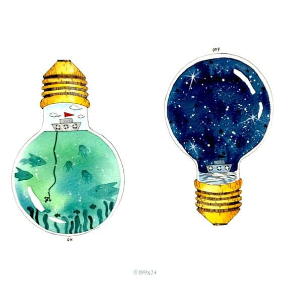 69. PORTRAY AN UNIVERSE IN A LIGHT-BULB