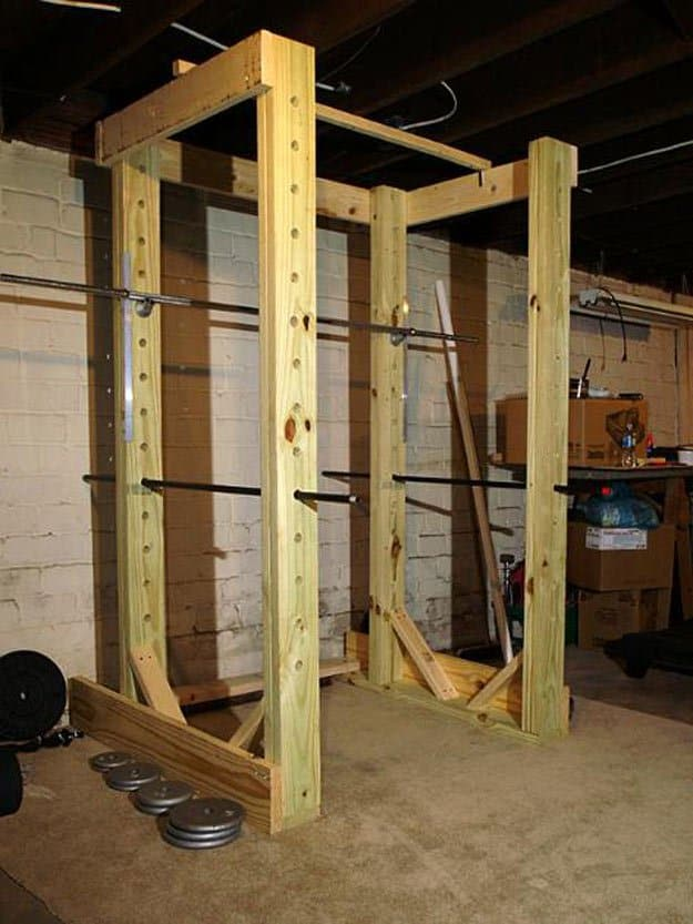 Amazing 13 Healthy And Easy To Do Homemade Squat Rack Ideas And Pabps2019 Chair Design Images Pabps2019Com