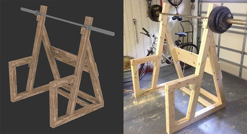 13 healthy and easy to do homemade squat rack ideas and for Diy squat stands
