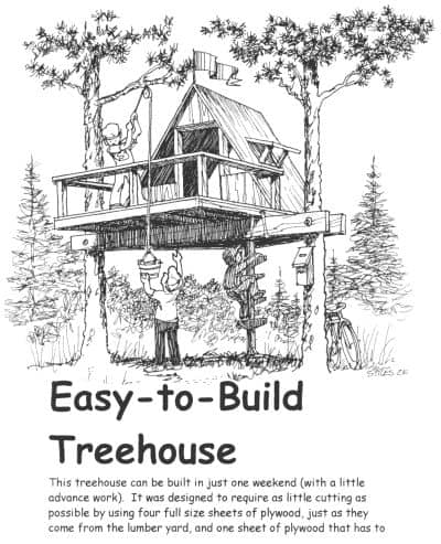 THE EASY TO BUILD TREE HOUSE