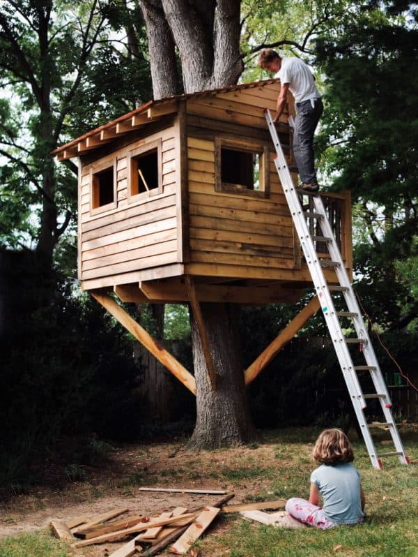 THE WOOD SIDED TREE HOUSE