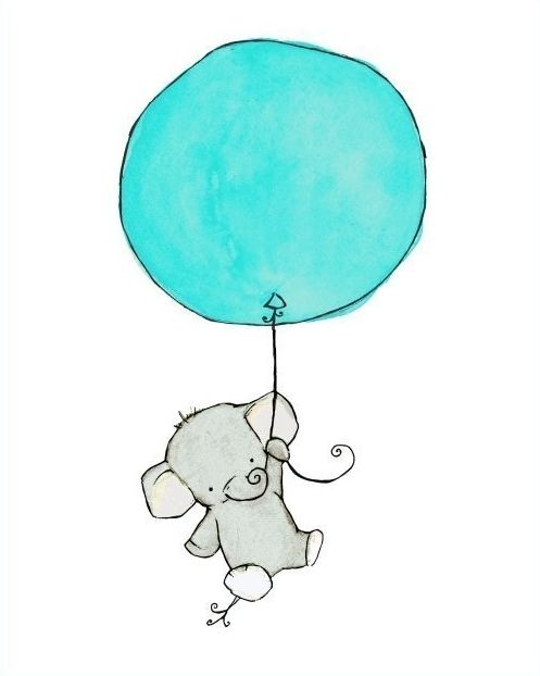 10. ELEPHANT FLYING UP ON A BALLOON