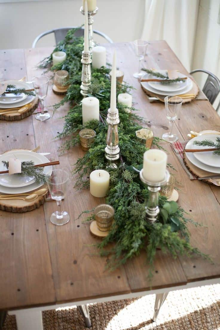 20 wonderful christmas dinner table settings for merry holidays homesthetics inspiring ideas for your home - Christmas Dinner Table Decorations