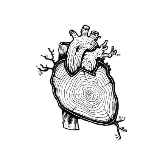 54. A COZY WOODEN HEART