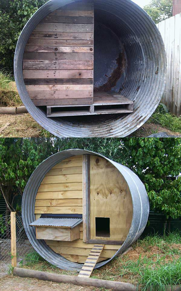 RECYCLED WATER TANK DUCK HOUSE