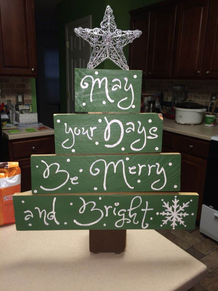 18 christmas pallet projects that will give a festive for Wood crafts to make for christmas