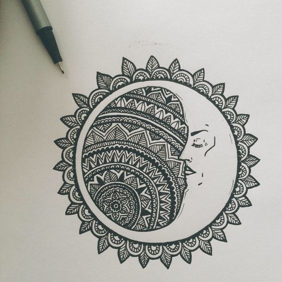 56. THE MOON RESTING IN A MANDALA