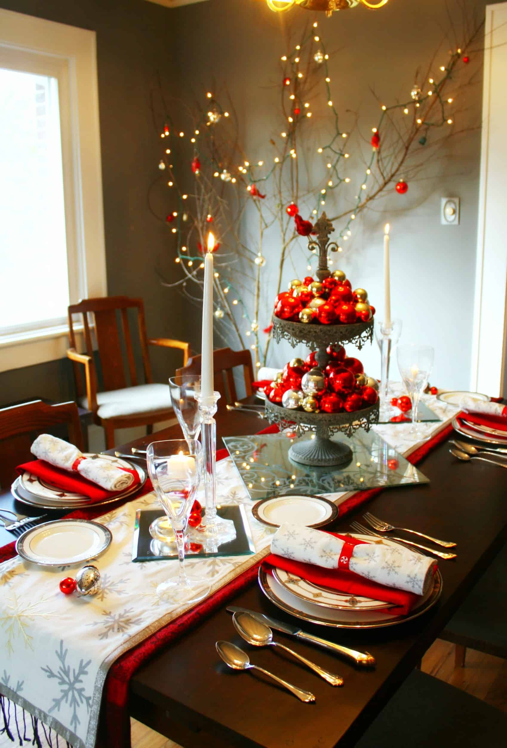 20 wonderful christmas dinner table settings for merry - Modern christmas table settings ideas ...