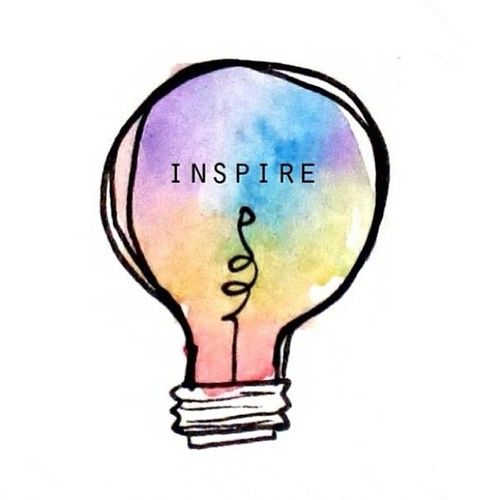 ONE COLORFUL INSPIRING LIGHT-BULB