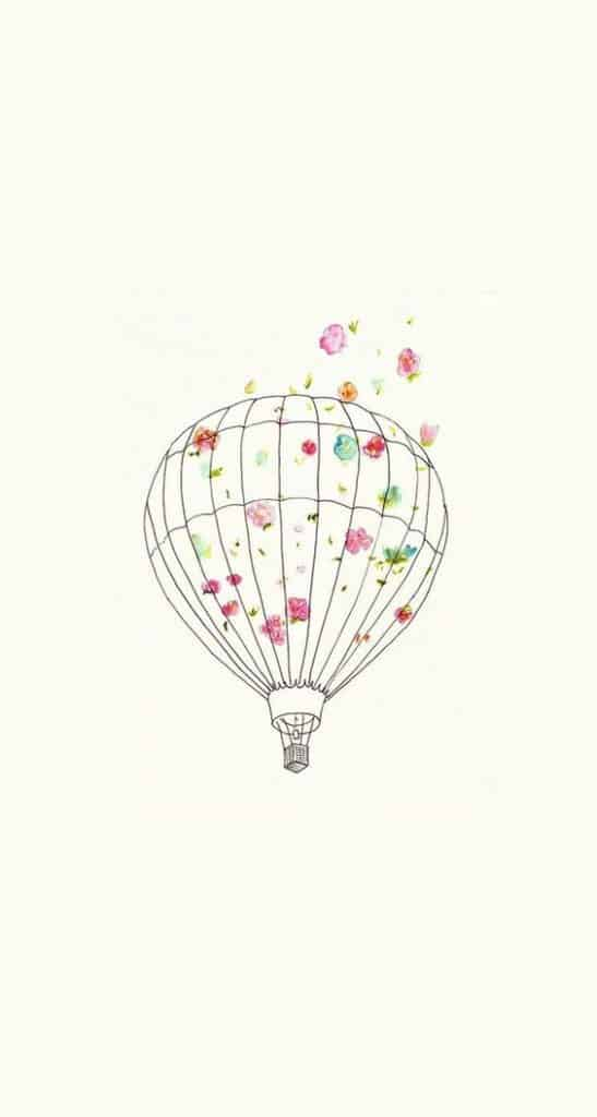 7. HOT AIR BALLOON RAN BY FLOWERS