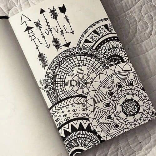 25. SPLENDID MANDALA DOODLING CAN SOOTHE YOUR NERVES